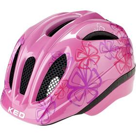 KED Meggy II Trend Kask rowerowy Dzieci, pink flower